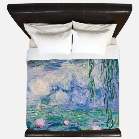 Water Lilies Claude Monet Fine Art King Duvet