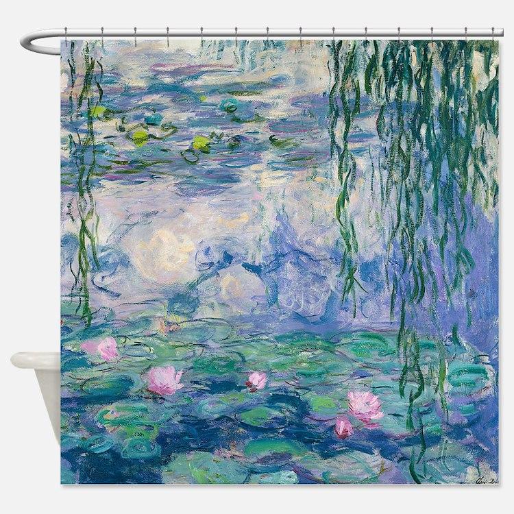 Water Lilies Claude Monet Fine Art Shower Curtain