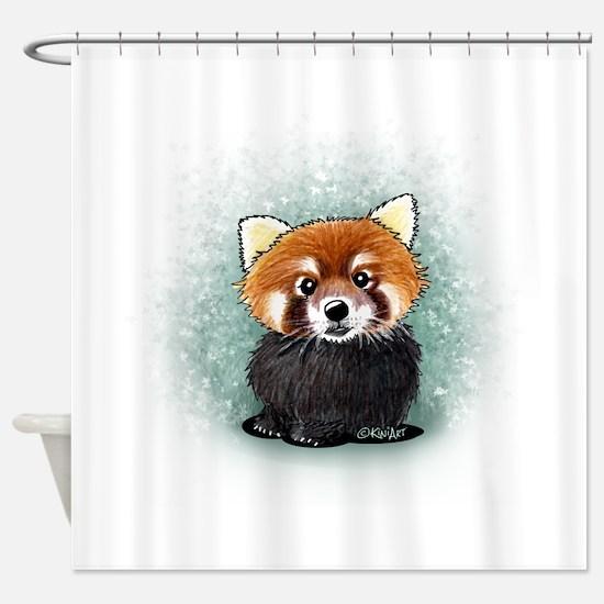 KiniArt Red Panda Shower Curtain