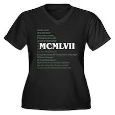 Latin 50th Women's Plus Size V-Neck Dark T-Shirt