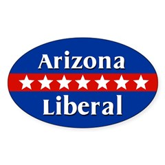Arizona Liberal Oval Car Decal