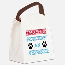 Warning Protected by an Affenpins Canvas Lunch Bag