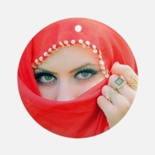 VEILED BEAUTY Round Ornament