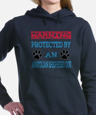 Warning Protected by an Women's Hooded Sweatshirt