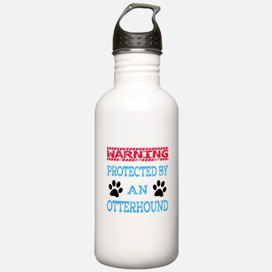 Warning Protected by a Sports Water Bottle