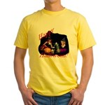 Little Witches Halloween Yellow T-Shirt