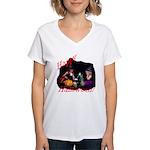 Little Witches Halloween Women's V-Neck T-Shirt