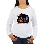 Little Witches Halloween Women's Long Sleeve T-Shi