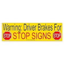 Stop Sign Bumper Bumper Sticker