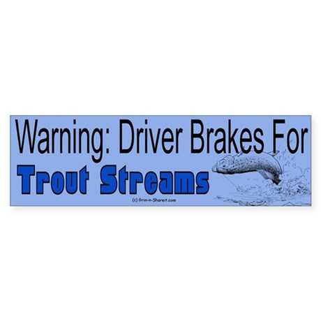 Trout Fishing Bumper Sticker