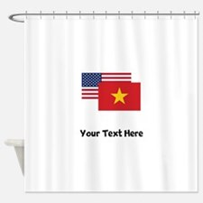 American And Vietnamese Flag Shower Curtain