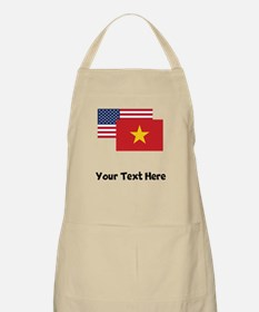 American And Vietnamese Flag Apron