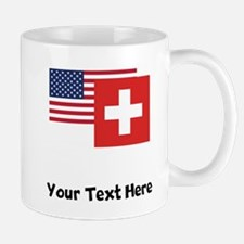 American And Swiss Flag Mugs