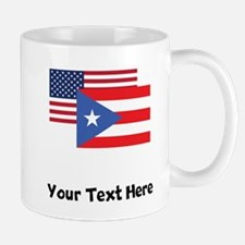 American And Puerto Rican Flag Mugs