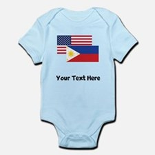 American And Filipino Flag Body Suit