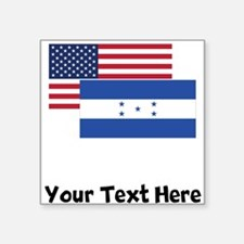 American And Honduran Flag Sticker