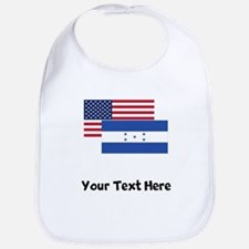 American And Honduran Flag Bib