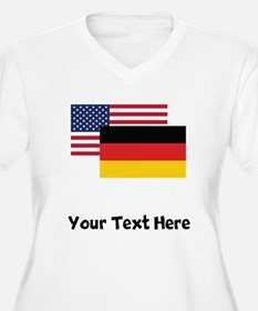 American And German Flag Plus Size T-Shirt