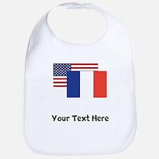American And French Flag Bib