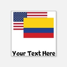 American And Colombian Flag Sticker