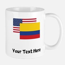 American And Colombian Flag Mugs