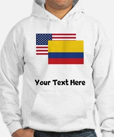 American And Colombian Flag Hoodie