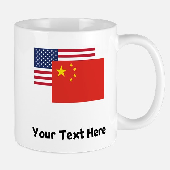 American And Chinese Flag Mugs