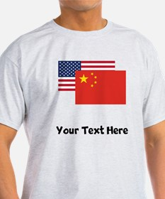 American And Chinese Flag T-Shirt