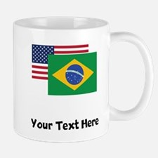 American And Brazilian Flag Mugs