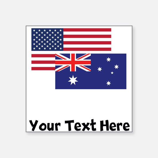 American And Australian Flag Sticker