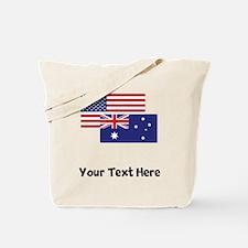 American And Australian Flag Tote Bag