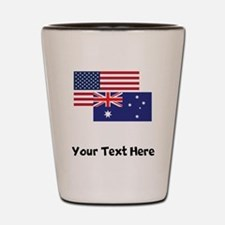 American And Australian Flag Shot Glass