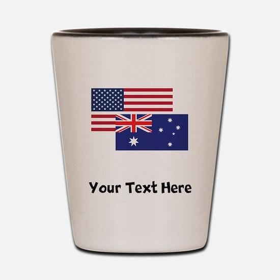 American And Australian Flag Shot Glass