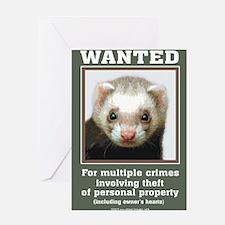 Funny Ferret Greeting Card