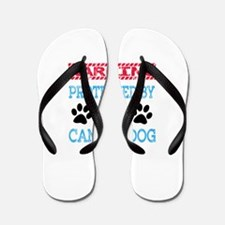 Warning Protected by a Canaan Dog Flip Flops