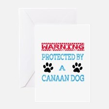 Warning Protected by a Canaan Dog Greeting Card