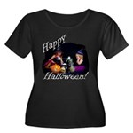 Little Witches Halloween Women's Plus Size Scoop N