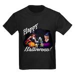 Little Witches Halloween Kids Dark T-Shirt