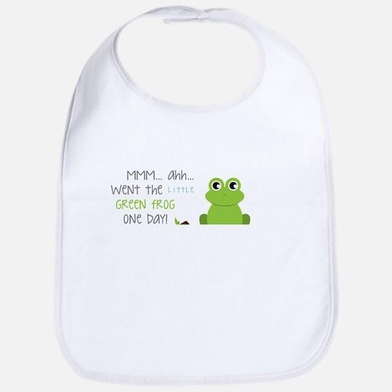 Little Green Frog Bib