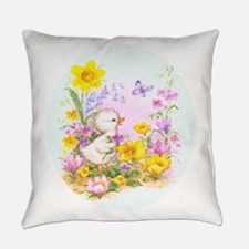 Cute Easter Duckling Chick And Everyday Pillow