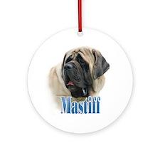 Mastiff(fawn)Name Ornament (Round)