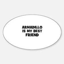 armadillo is my best friend Oval Decal