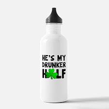 He's My Drunker Half Water Bottle