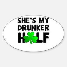 She's My Drunker Half Decal