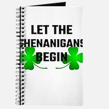 Let The Shananigans Begin Journal