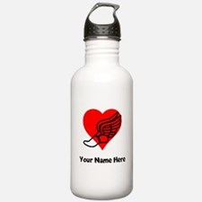 Custom Running Heart Water Bottle
