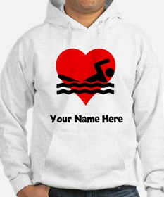 Custom Swimming Heart Hoodie