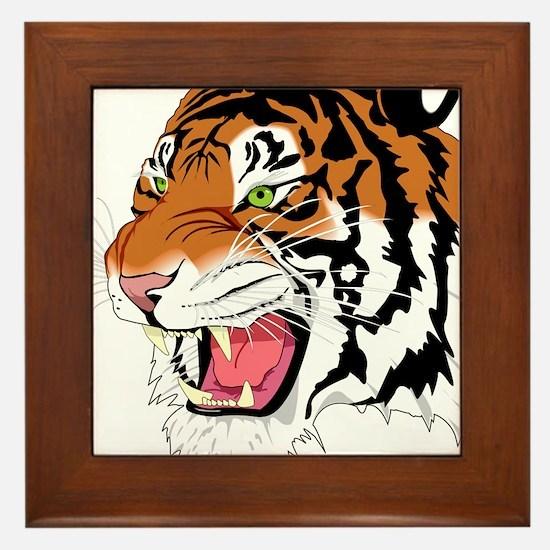 Tiger Framed Tile