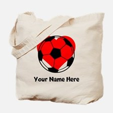 Custom Soccer Heart Tote Bag