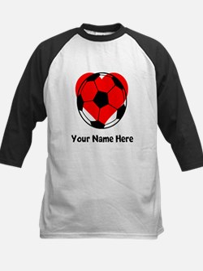 Custom Soccer Heart Baseball Jersey